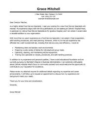 Cover Letter Sample For Food Service Manager Eursto Com