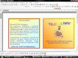 Formato De Afiches En Word Aprendiendo A Elaborar Tablas Y Tarjetas Elaborando Tarjetas Y