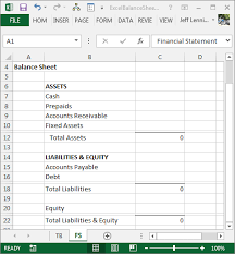 How To Create Balance Sheet Create A Balance Sheet With Excel Excel University