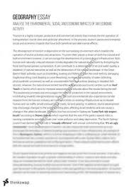 y hsc geography tourism essay year hsc geography thinkswap essay on environmental social and economic impacts on an economic activity