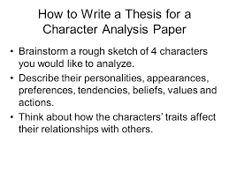character analysis essay format okl mindsprout co character analysis essay format