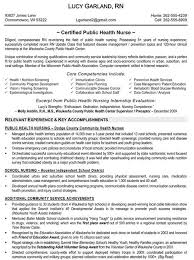Sample Resume Public Health Nurse