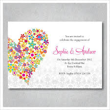 Cute Colorful Love Engagement Celebration Invite Card Personalized