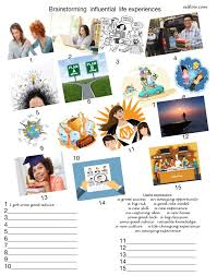 brainstorming life experiences eslflow popular resources narrative essay home · brainstorming life experiences 1