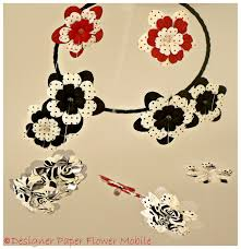 Paper Flower Mobiles Lullaby Mobiles Designs Designer Paper Flower Mobile