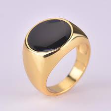 Minimalist Design Rings Us 1 94 25 Off Fashion Minimalist Design Plated Gold Black Enamel Rings For Women Vintage Punk Classic Imitation Black Stones Ring Jewelry On