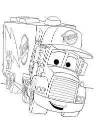Disegno Di Cars Con Mack Lauto Articolato Da Colorare