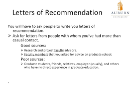 how to ask employer for letter of recommendation for grad school going to graduate school