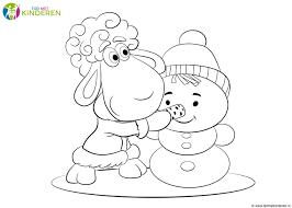 75 Kleurplaat Sneeuwpop Amazing Coloriage