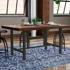 Narrow dining table with bench Trestle Charline Standard Height Dining Table Wayfair Long Narrow Dining Table Wayfair