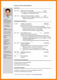 Curriculum Vitae New Curriculum Vitae In English Examplecv In English Template