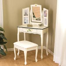 Makeup Vanity Table With Mirror And Bench Bedroom White Sets. White Makeup  Vanity With Stool Table And Bench Mirror. Contemporary Makeup Vanity Stool  Black ...