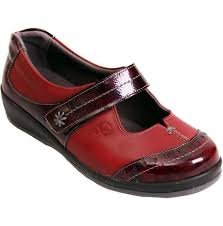 womens filton red burdy patent leather extra wide shoes
