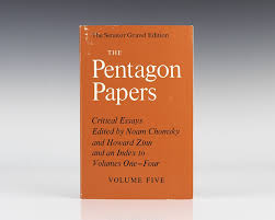 pentagon papers noam chomsky howard zinn first edition signed rare  the senator gravel edition volume 5 critical essays edited
