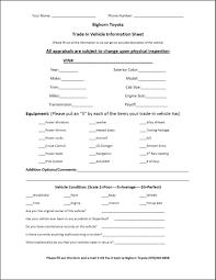 Vehicle Appraisal Form Trade Appraisal Printable Form 11