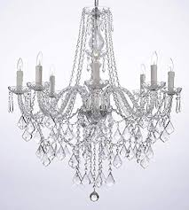 how to install crystal chandelier lighting luxury crystal chandelier lighting 33ht x 28wd 8 lights fixture