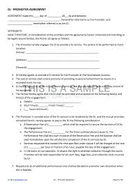 Booking Agent Contract Template DJPromoter Contract Template For Hiring A DJ 4
