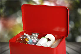 get a small plastic storage container and create a diy first aid kit customized for your needs add must haves like bandages and ointment