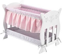 You & Me Baby So Sweet Wooden Bassinet Furniture for 18 inch Doll ...