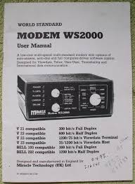 WS 2000 modem information
