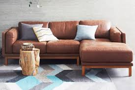 austin leather sofa pottery barn