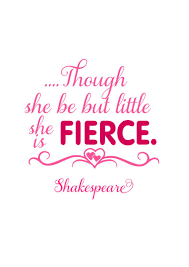 Though She Be But Little She Is Fierce Svg Shakespeare Quote Svg Nursery Wall Svg File
