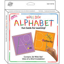 alphabet picture cards wikki stix alphabet cards abc learning cards wax sticks for kids