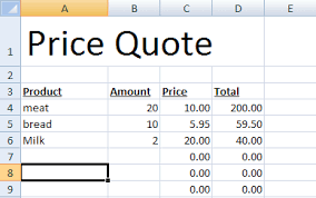 Price Quote Best Speeding Up Your Price Quotes With Microsoft Excel CogniView