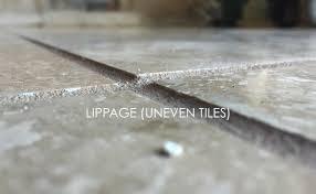 uneven travertine tiles ground level