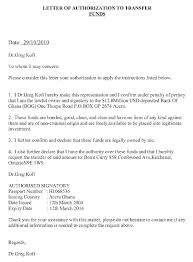 Authorization Letter Claim Writing For Samples Bank