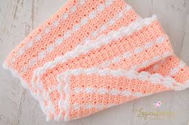 Crochet Patterns For Baby Blankets Simple Peaches Cream Baby Blanket Free Crochet Pattern Loganberry