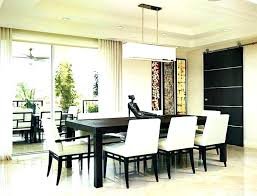 modern pendant lighting over dining table contemporary lamps room light height