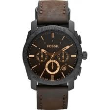 fs4656 machine fossil mens watch watches2u fossil fs4656 mens machine brown leather chronograph watch