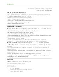 Massage Therapist Resume Objectives Hvac Cover Letter Sample