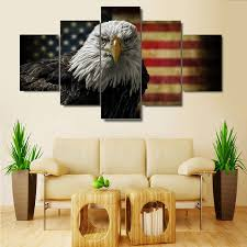 5 pieces american flag eagle wall art picture modern home decoration living room or bedroom canvas on americana canvas wall art with 5 pieces american flag eagle wall art picture modern home decoration
