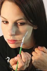 freaky femme joker makeup step 2