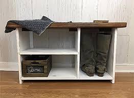 rustic entryway bench with storage. Entryway Bench With Shoe Storage Rustic Farmhouse Decor In