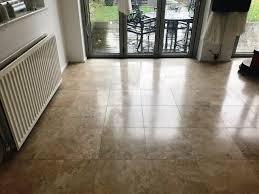 travertine floor in durham before cleaning