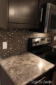 Affordable Kitchen Backsplash Harold Pionite Laminate Countertop Brown Mosaic Tile Backsplash