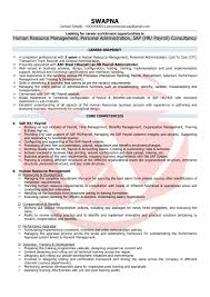 100 Free Sample Resume Human Resource Manager City Manager
