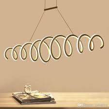 modern aluminum led pendant light spring hanging chandelier light inner outside light up l800 l1000mm indoor lights ac85 265v outdoor pendant lighting led