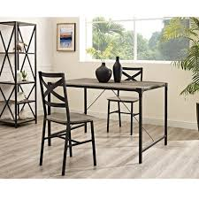 Rustic Angle Iron 48-inch Driftwood Dining Table - Free Shipping Today -  Overstock.com - 20994463