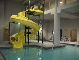 indoor pool and hot tub with a slide. Super 8 Abbotsford BC: Indoor Pool/Waterslide And Hot Tub Pool With A Slide E