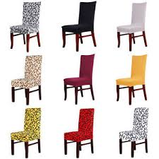 image is loading retro spandex strech dining chair covers dining room