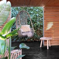hk living outside hanging chair grey