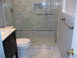 Bathroom:Stupendous Tiny Bathroom With Subway Shower Wall Also Square White  Tile Floor Cool Bathroom