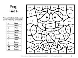 This subtraction worksheets generator has option for with and without regrouping. Subtraction Color By Number Games Bonus Subtraction Coloring Worksheets