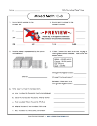 It introduces workplaces and also contains a matching activity. Fillable Online Mixed Math C8 Super Teacher Worksheets Fax Email Print Pdffiller