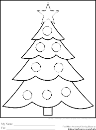 Christmas Tree Coloring Pages Coloring Book 33 Free Printable