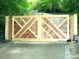 diy wood gate door how to make a sliding gate for driveway ideas wooden gates diy